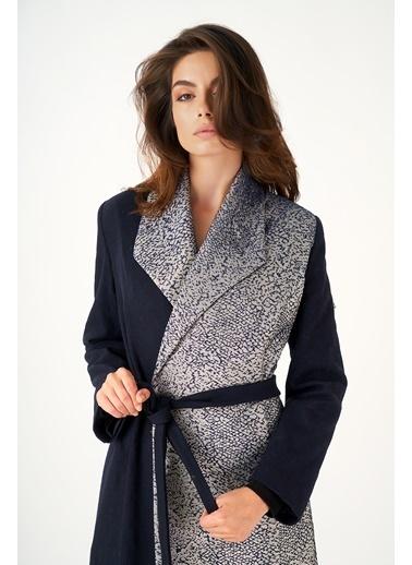 Women&Women Jakarlı Şık Oversize Palto  Siyah
